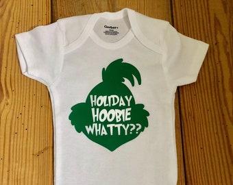 5a8b6b669 Holiday Hoobie Whatty, Grinch, Grinch Onesie®, Grinch Outfit, Christmas  Onesie®, Holiday Onesie®, Baby Onesie®