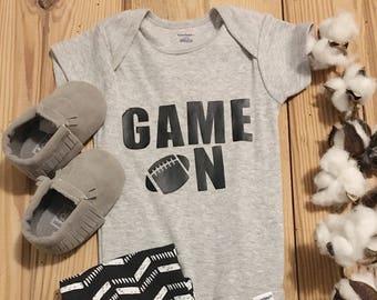 Game On Onesie, Football Onesie, Baby Football, Baby Boy Onesie, Boy Onesie, Onesie