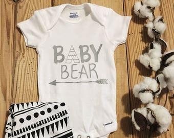 Baby Bear Onesie, Tribal Onesie, Animal Onesie, Baby Onesie, Baby Boy Onesie, Boy Onesie, Baby Girl Onesie, Girl Onesie