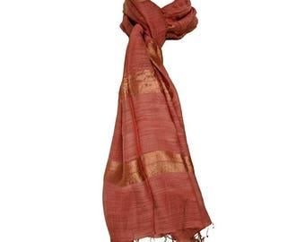 Scarf Brown vietnam silk scarf