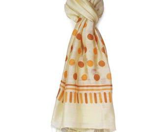 Scarf vietnam light yellow silk scarf