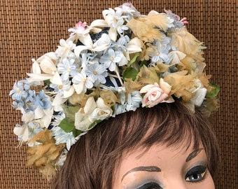 bec99483487 Vintage Christian Dior Hat Floral 1950s 1960s