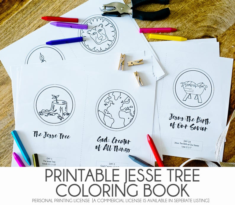 photograph relating to Printable Jesse Tree Ornaments referred to as Do-it-yourself JESSE TREE - Printable Pdf Jesse Tree Coloring Guide - Xmas Introduction Ornament Sport