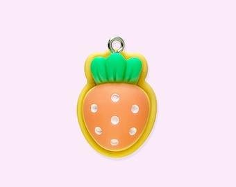 4pcs-gold tone  enamel Carrot charm,vegetable charm,food charm-enamel rabbit charm available