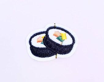 Mini Sushi Patch - Food Patch - Kitsch Patch - Japanese Patch - Harajuku Clothing - Jacket Patch - Kawaii Patch - Backpack Patch