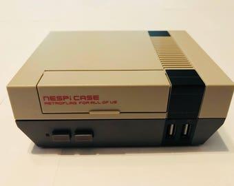 The Classic Arcade- Raspberry Pi Game Console,64GB SD Card, NES Style Case w\fan & power button, Retropie, 12,000+ ROMs.