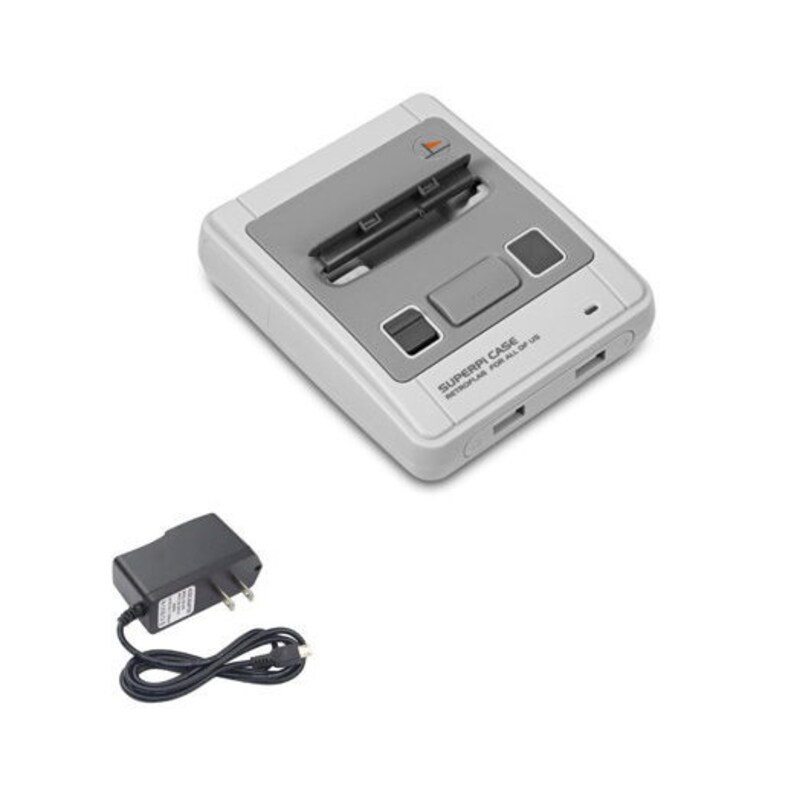 The SuperPi- Retropie Console - Raspberry Pi 3B+ - 32GB-256GB - 2 SNES  Controllers -up to 26,000 Games