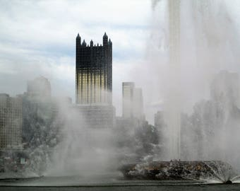 Pittsburgh Fountain. Digital Download Photograph