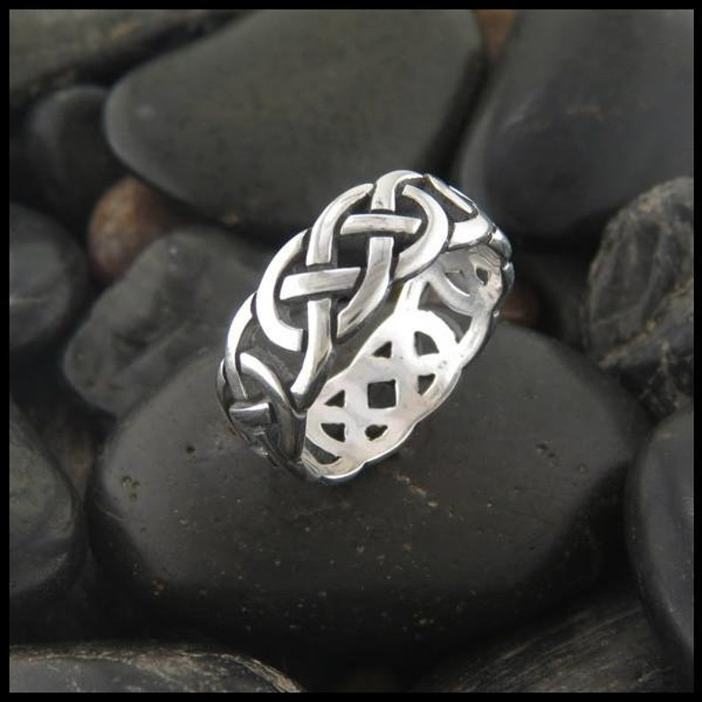 fdba9f532a130 Celtic Open Josephine Knot Ring in Sterling Silver