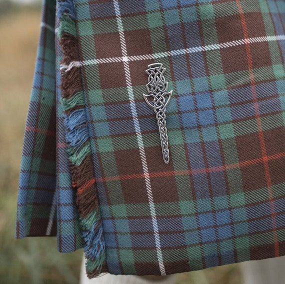 Celtic Sterling Silver Trinity Knot Kilt Pin