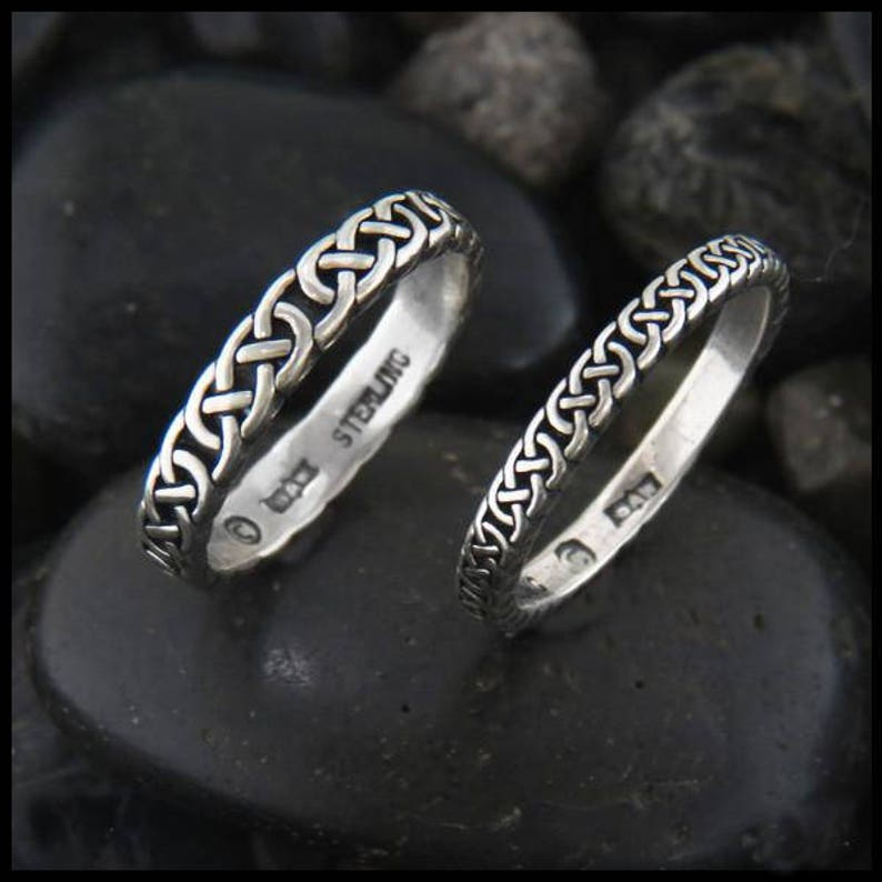 059b1b4a036c3 Narrow Celtic Josephine Knot Ring available in 2 widths