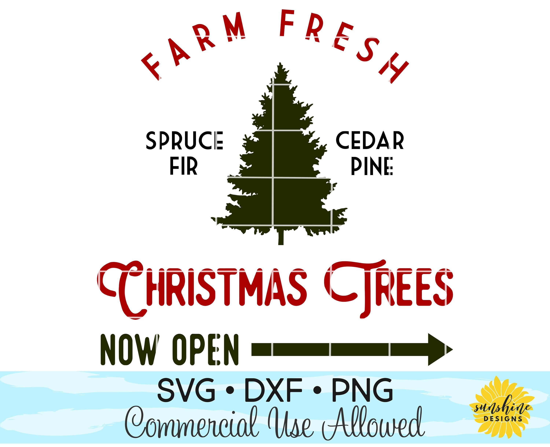 Farm Fresh Christmas Trees SVG Christmas Tree svg Red Truck   Etsy