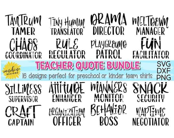 Teacher Quote Bundle Svg Teacher Svg Kindergarten Svg Etsy