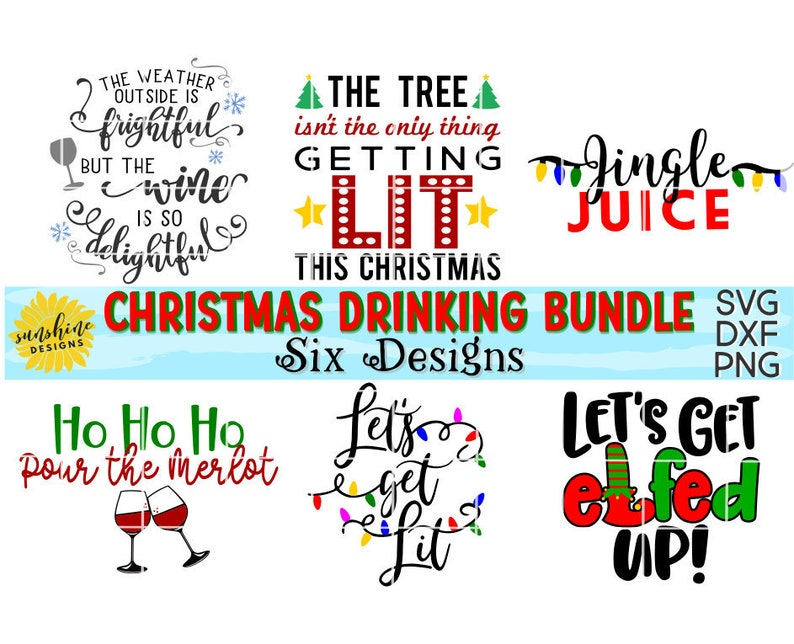88728376c4 Christmas Drinking SVG Bundle The Tree Isn't The Only | Etsy