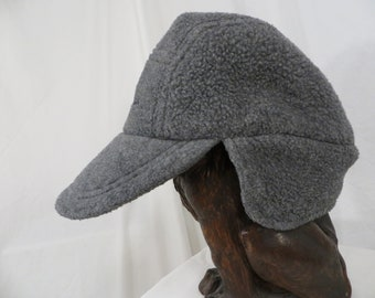 1622497814756 LL Bean Polar fleece Cap Insulated Hat Warm Vintage 90 s High Quality Made  in USA Gray Heather Small with Ear Flaps