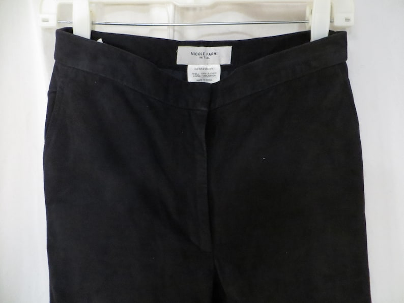 Soft Suede Designer Leather Pants Black Small Great Quality Nicole Farhi Sz 2 4 Vintage 90/'s Excellent quality /& Condition