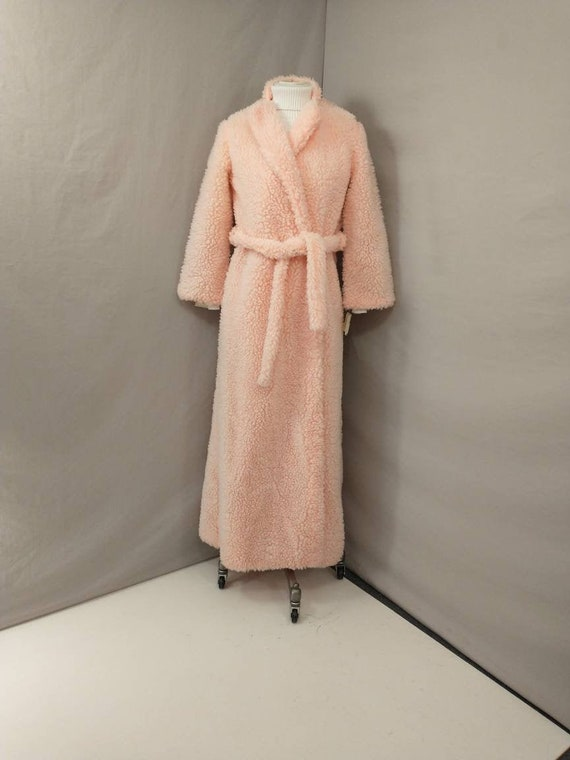 Deadstock Pink Fuzzy Long Robe Authentic Vintage 7