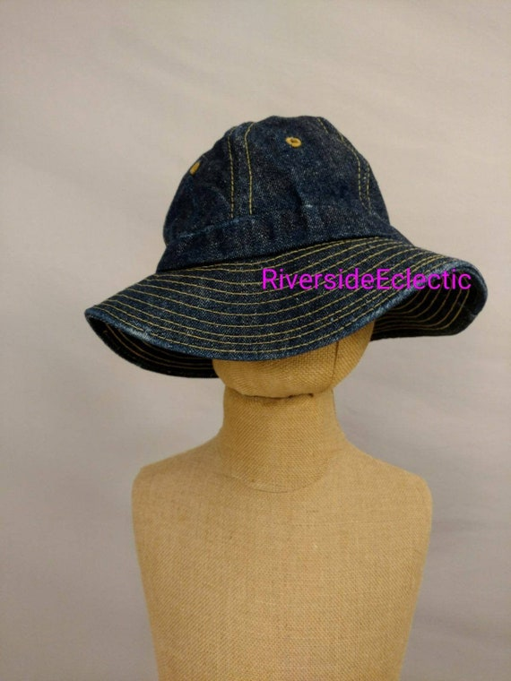 Levi's Denim Bucket Brim Hat Vintage 70's Cotton C