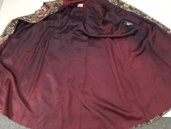 Tapestry Cloak Rich Colors Long Vintage Cape Quee… - image 7