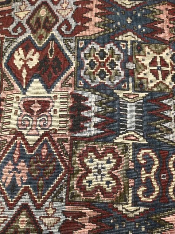 Tapestry Cloak Rich Colors Long Vintage Cape Quee… - image 10