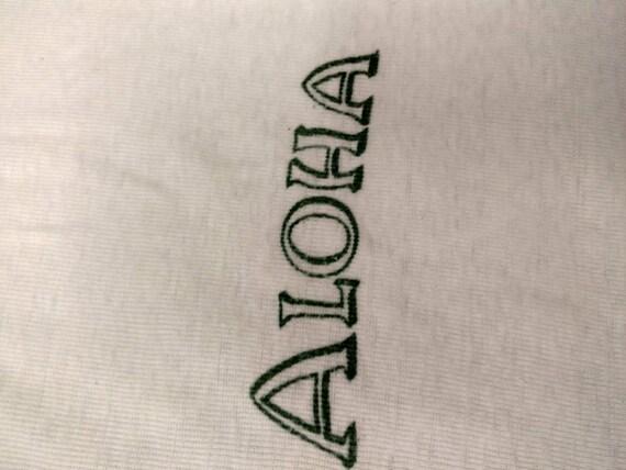 Rare Early Hawaii Vintage White Cotton T Shirt Al… - image 6