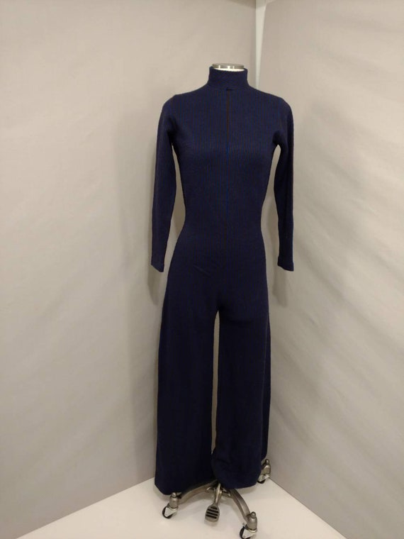 70's Jumpsuit Sweater Knit Striped Made in USA Vin