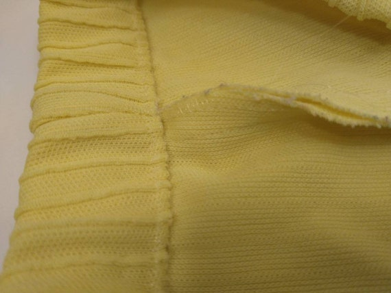 70's Yellow Polyester Pull On Pants Mod Hipster H… - image 5