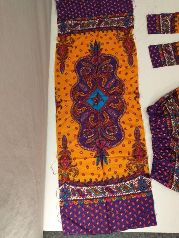 70's Vintage Handmade Maxi Skirt Bright Floral Mo… - image 7