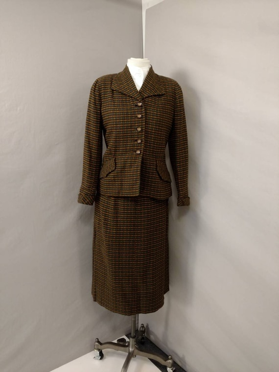 Vintage 50's Suit Woman's Business with Skirt & Ja
