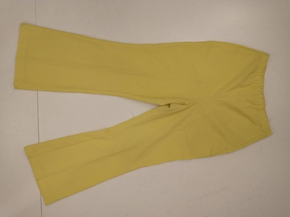 70's Yellow Polyester Pull On Pants Mod Hipster H… - image 3