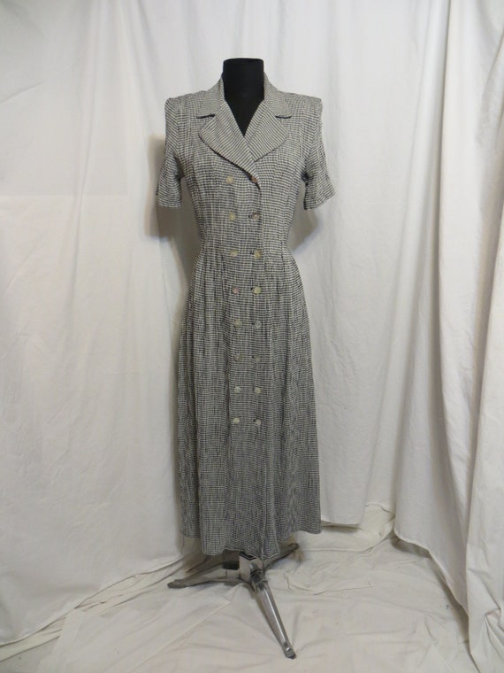 61589864b29 Vintage 90 s Business Casual Rayon Long Dress Feminine