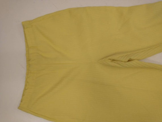 70's Yellow Polyester Pull On Pants Mod Hipster H… - image 4