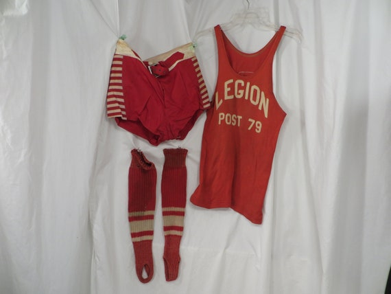 Satin Basketball Antique Athletic Uniform Tank and