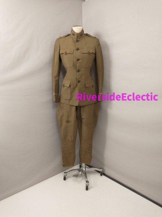 WWI Vintage US Military Uniform Named Original Dou