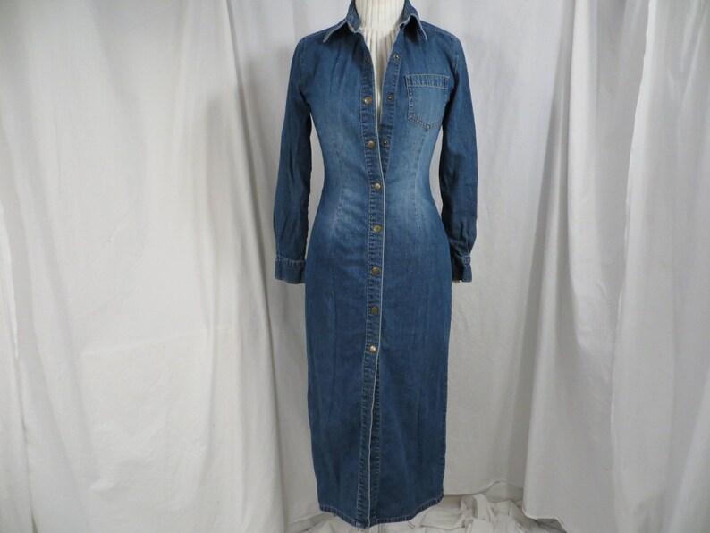 748c2ebb53b Denim Shirtdress Dress 100% Cotton Blue Jean Jacket Coat