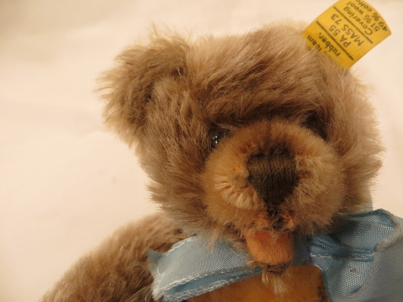 Steiff Teddy Bear 030018 Vintage late 60/'s early 70/'s Very Cute Mohair Zotty Caramel 7 Toy Made in Germany