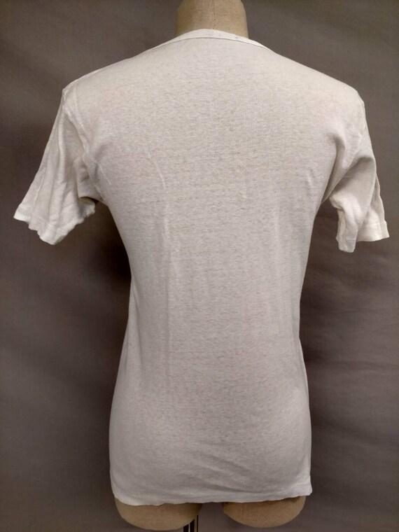 Rare Early Hawaii Vintage White Cotton T Shirt Al… - image 4