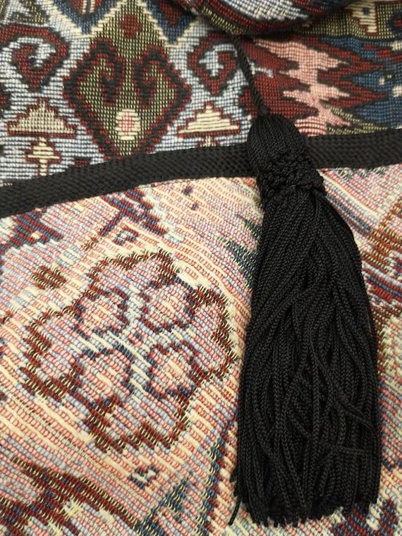 Tapestry Cloak Rich Colors Long Vintage Cape Quee… - image 9