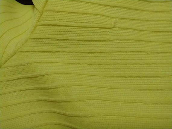 70's Yellow Polyester Pull On Pants Mod Hipster H… - image 7