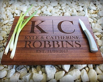 Custom Cutting Board - Engraved Cutting Board, Father's Day, Personalized Cutting Board, Wedding Gift, Housewarming Gift,Anniversary Gift