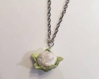 Cauliflower Necklace Foodie Gift