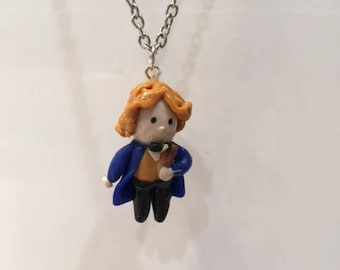Newt Scamander Charm Necklace Cute Harry Potter Fantastic Beasts Gift