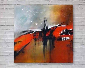 Large Original Abstract Painting | Modern Acrylic Art | Canvas Wall Art | 90x90