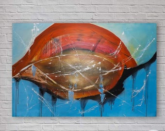 Large Original Abstract Painting | Modern Acrylic Art | Canvas Wall Art | 150x100