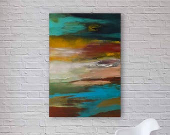 Original Abstract Painting | Modern Acrylic Art | Canvas Wall Art | 70x100