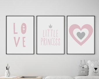Set of 3 Little Princess Prints