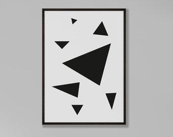 Scandi Triangles Abstract Print
