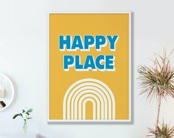 Happy Place Colour Pop Print