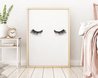 Lashes Watercolour Eyes Print