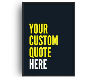 Your Custom Quote Navy and Yellow Print